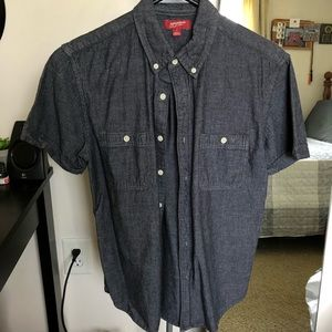 Gray Arizona jeans button down shirt